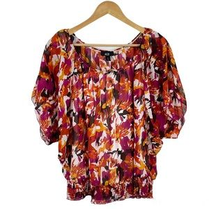 AGB Floral Batwing Blouse, L